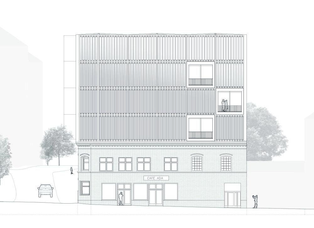 Front-Ansicht: Entwurf – Georgina Hogrefe, Maren Leyendecker