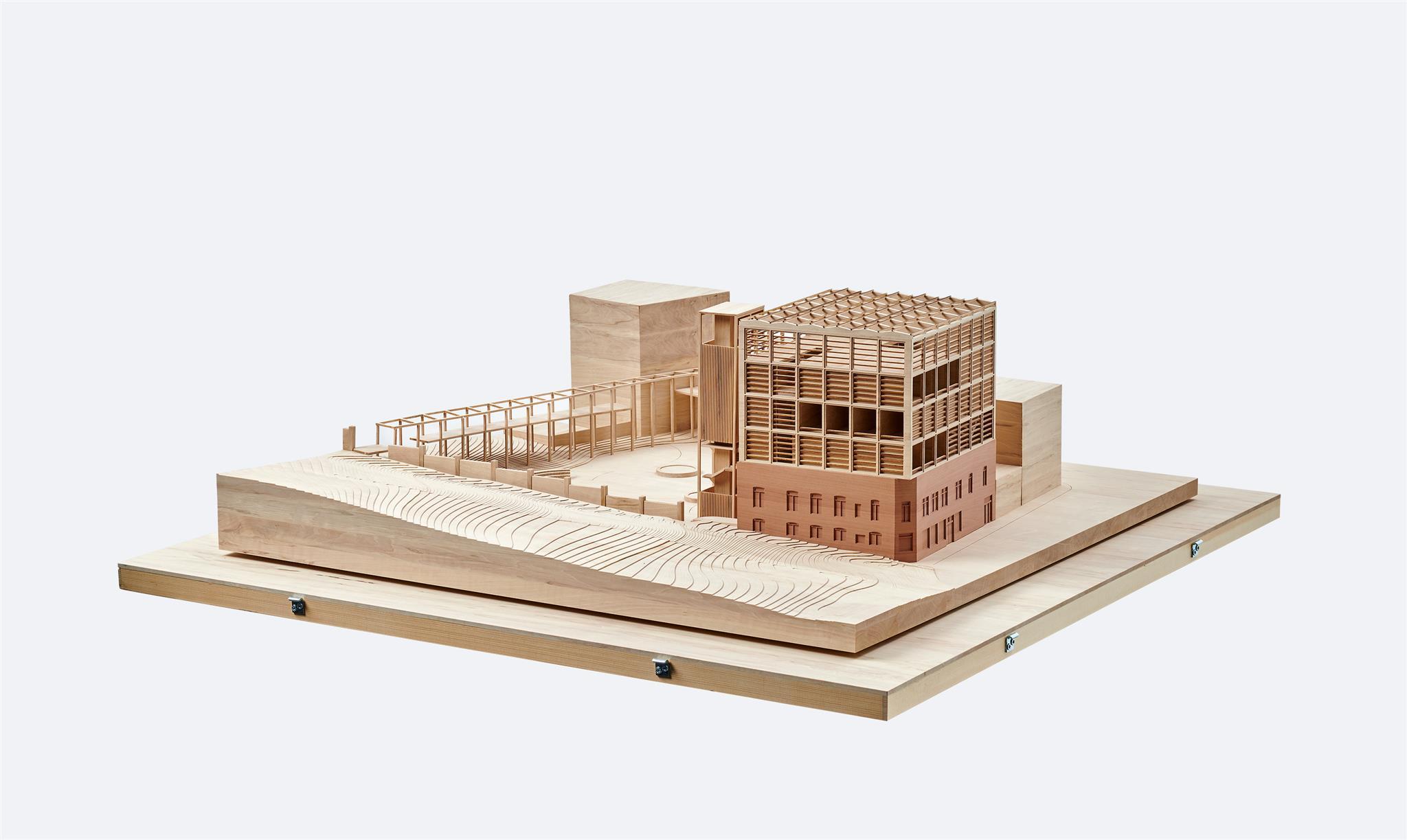 Holzmodell unseres Wohnkonzeptes für SDE21 im Maßstab 1:100.