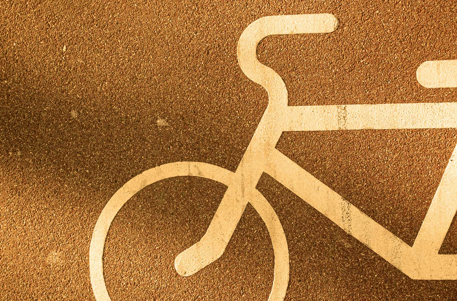 bicycle sign on a street