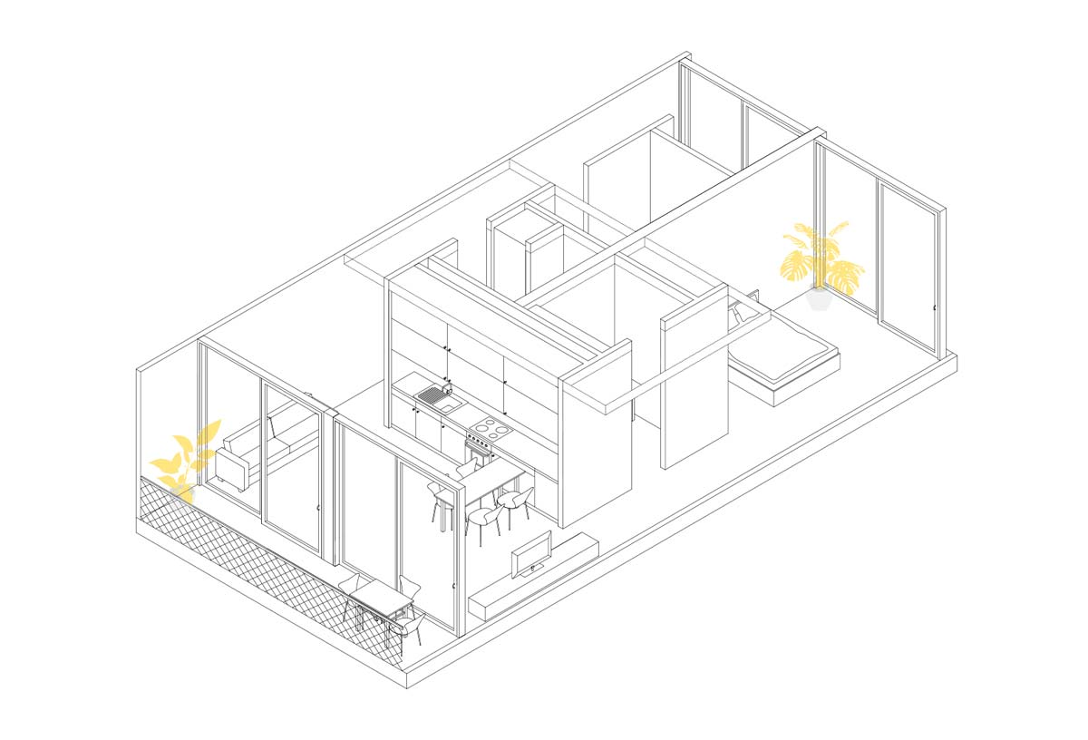 Isometrie der Familienwohnung - MIMO