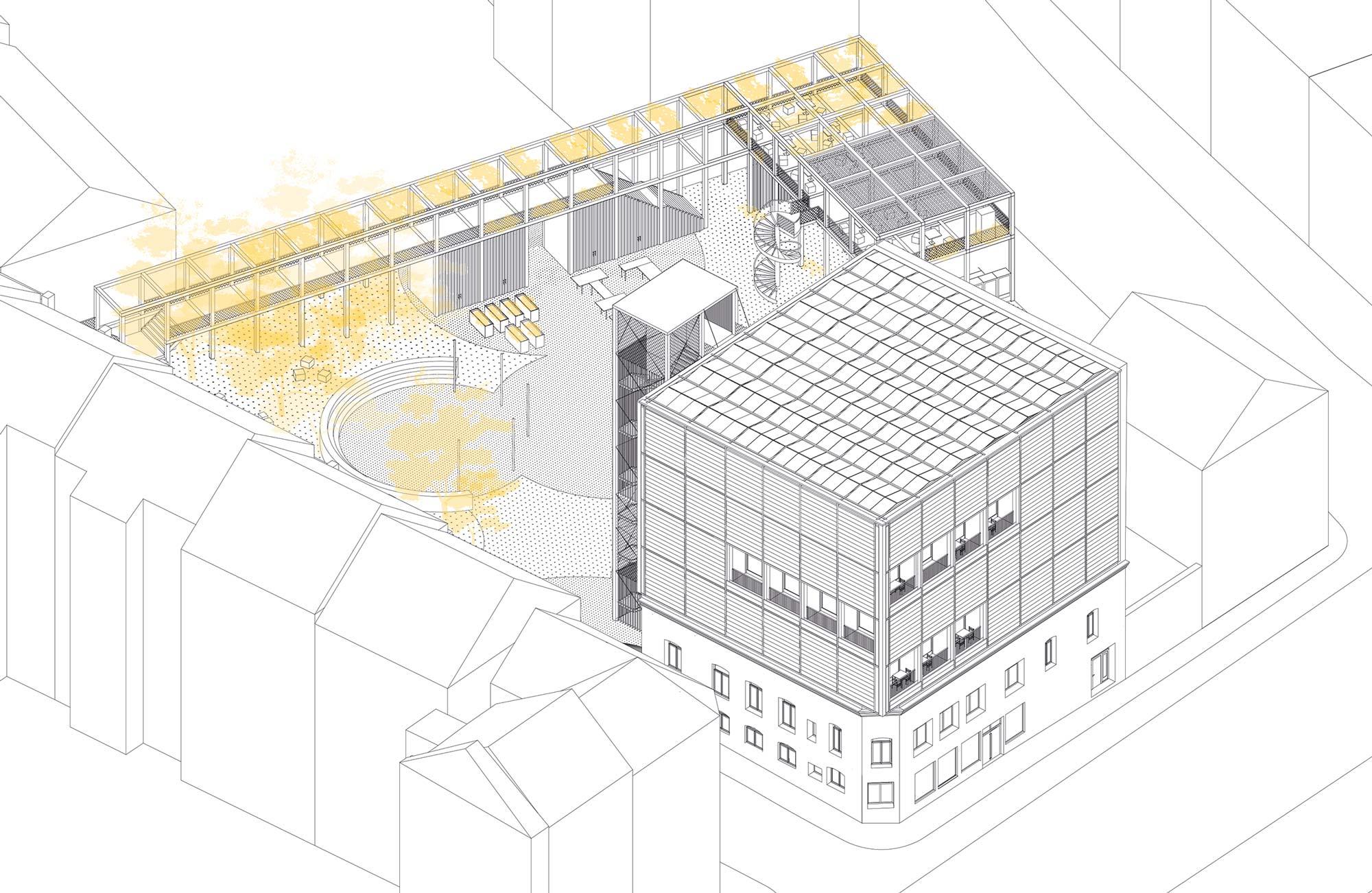 MIMOs Erweiterung des Cafe Ada in Wuppertal, Mirke. Solar Decathlon Europa 21/22