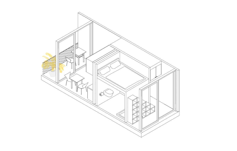 Isometrie der Studentenwohnungen - MIMO