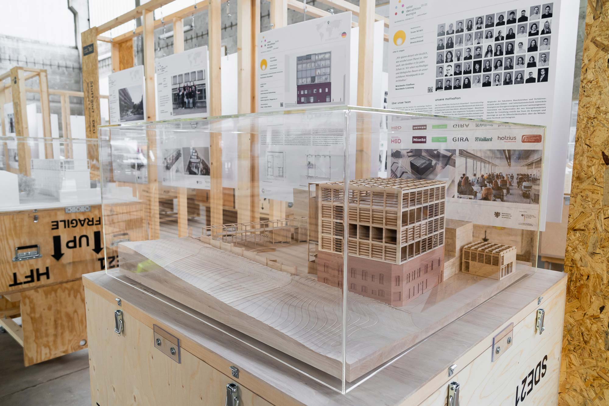 The model of our concept at alte Glaserei – MIMO